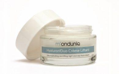 Nawilżająca linia kosmetyków pielęgnacyjnych z kwasem hialuronowym i komórkami macierzystymi od M'onduniq dla klienta detalicznego