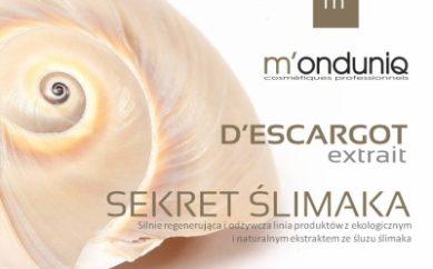 Sekret ślimaka zastosowany w odżywczym rytuale regenerującym do twarzy, dekoltu i szyi