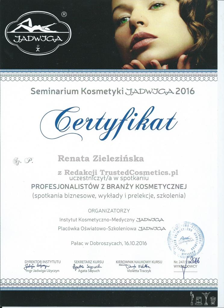 certyfikat szkolenie jadwiga
