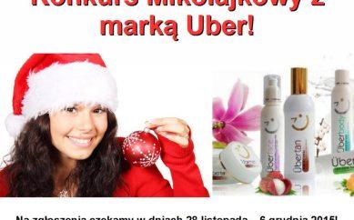 Konkurs Mikołajkowy z marką kosmetyczną Uber!