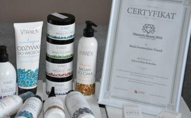 Marka kosmetyków naturalnych VIANEK — Diamenty Beauty 2016!