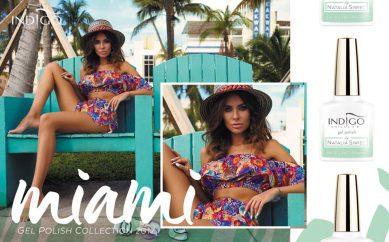 Kolekcja lakierów hybrydowych Natalii Siwiec Miami Indigo nagrodzona Diamentem Beauty 2017