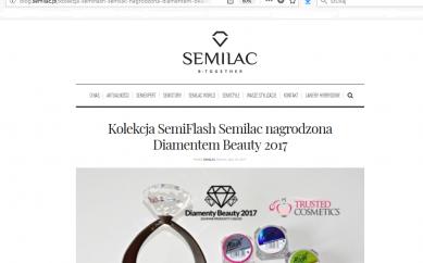 Informacja o Diamentach Beauty 2017 na blogu Semilac