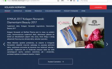 Informacja o Diamentach Beauty 2017 na stronie Biomed Pharma