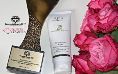 Discolouration-Stop Rozjaśniająca Maska Redukująca Przebarwienia od Apis otrzymała statuetkę Diamenty Beauty 2017