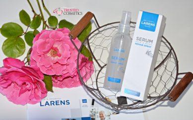 Wielofunkcyjne serum z peptydami kolagenu rybiego — recenzja Serum Hair & Body Repair Spray marki Larens
