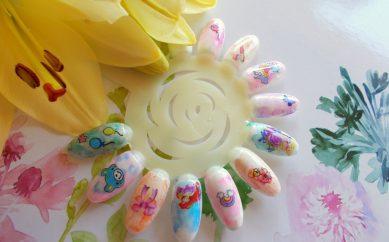 Stylizacja paznokci Watercolor nails