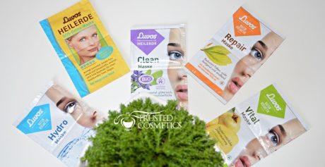 5 maseczek do pielęgnacji twarzy niemieckiej firmy Luvos