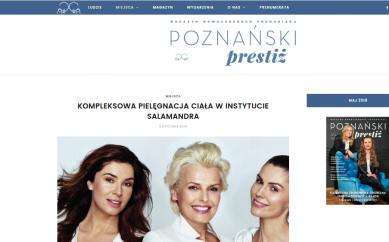 Kompleksowa pielęgnacja ciała w Instytucie Salamandra mój artykuł w magazynie Poznański Prestiż