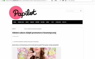 Odnieś sukces dzięki promotorce kosmetycznej – papilot.pl