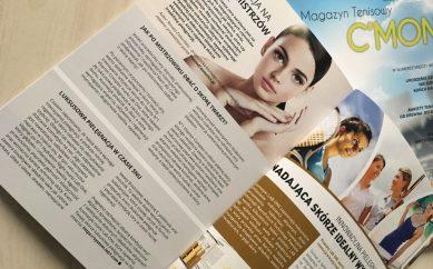 Pielęgnacja na miarę mistrzów – mój artykuł w Magazynie Tenisowym C'Mon