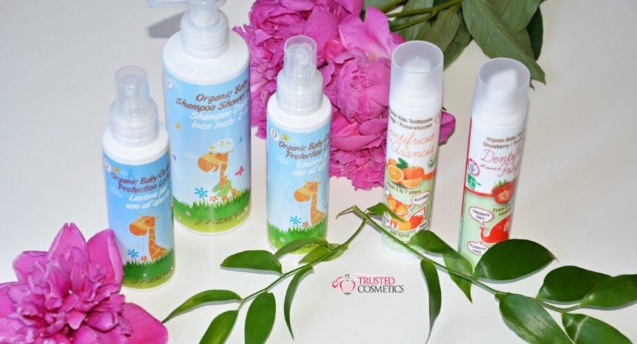 Wakacyjny niezbędnik kosmetyczny dla dziecka włoskiej marki Azeta Bio
