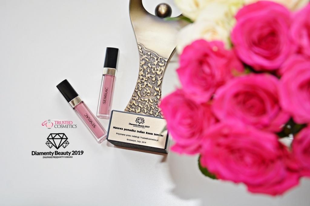 Matowa pomadka 097 Indian Roses Semilac Diamenty Beauty 2019