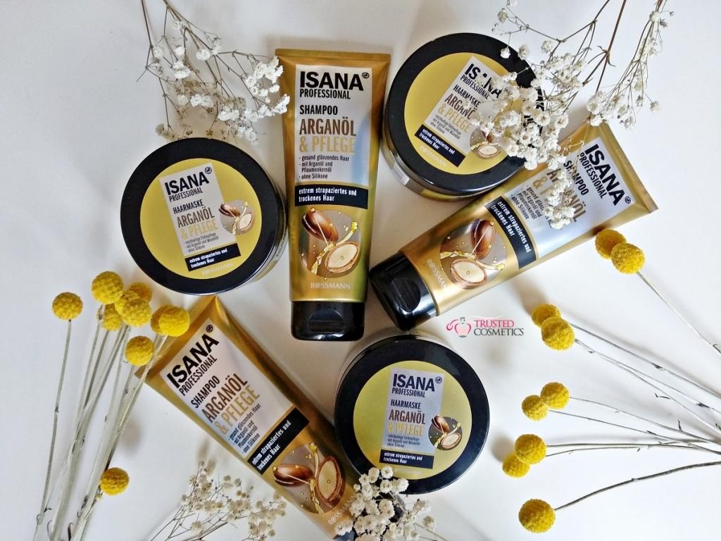 Kosmetyki do włosów z olejem arganowym Isana Professional