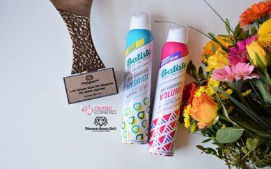 Suche szampony Batiste linia wzbogacona oraz warianty zapachowe nagrodzone Diamentem Beauty 2019