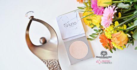 Wegański rozświetlacz Iuno Cosmetics nagrodzony Diamentem Beauty 2019