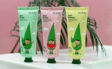 Soczysta pielęgnacja dla rąk kosmetykami Yumi