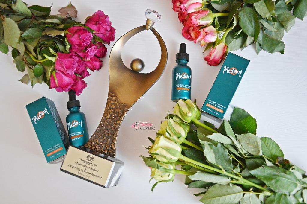 Esencja naprawczo-nawilżającą Multi-effect Repair & Hydrating Essence Mediect nagrodzona Diamentem Beauty 2021